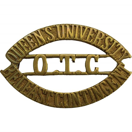 Officer Training Corps OTC Queens University Belfast Contingent OTC Officers Training Corps Shoulder Title