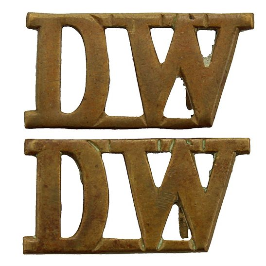West Riding Duke of Wellingtons West Riding Regiment Shoulder Title PAIR