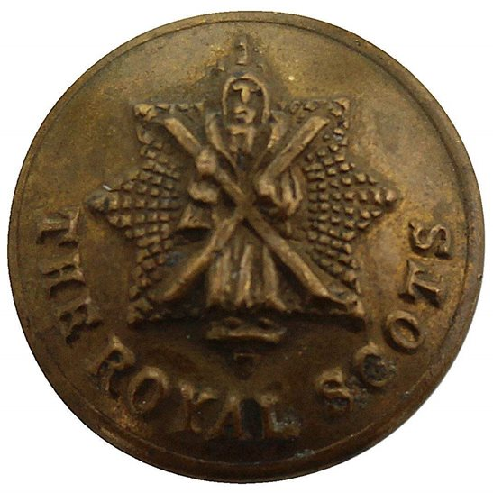 Royal Scots The Royal Scots Regiment Scottish SMALL Tunic Button - 18mm