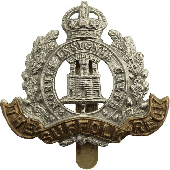 Suffolk Regiment WW2 Suffolk Regiment Cap Badge