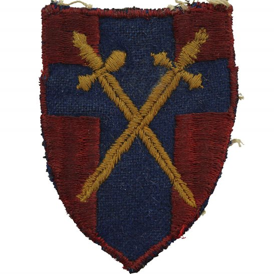 WW2 British 21st Army Group HQ Head Quarters Cloth Formation Sign Patch Badge
