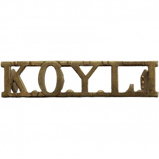Kings Own Yorkshire Light Infantry KOYLI Kings Own Yorkshire Light Infantry (KOYLI) King's Shoulder Title
