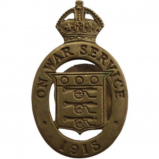 WW1 On War Service 1915 Lapel Badge - JR GAUNT & SON LTD LONDON