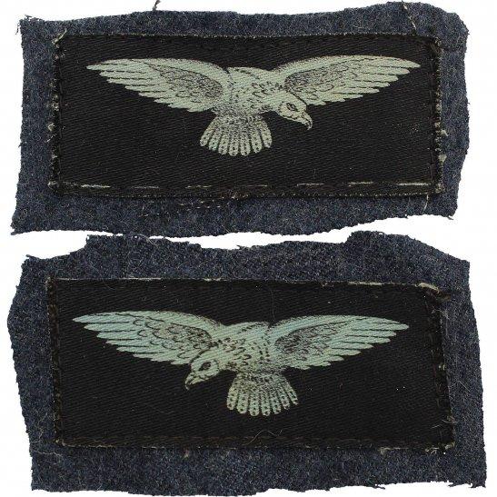 Royal Air Force RAF WW2 Royal Air Force RAF Eagle PRINTED Cloth Shoulder Title Badge Flash PAIR