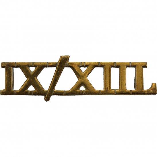 9th / 12th Royal Lancers 9th / 12th Royal Lancers Regiment Shoulder Title - IX/XIIL