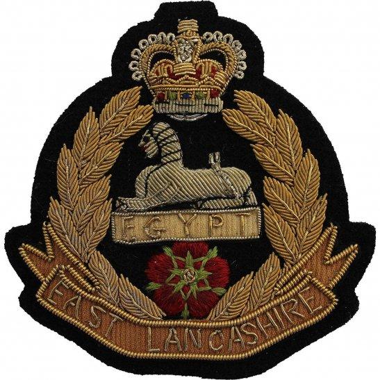 East Lancashire East Lancashire Regiment Cloth Wire BULLION Veterans Blazer Badge Patch