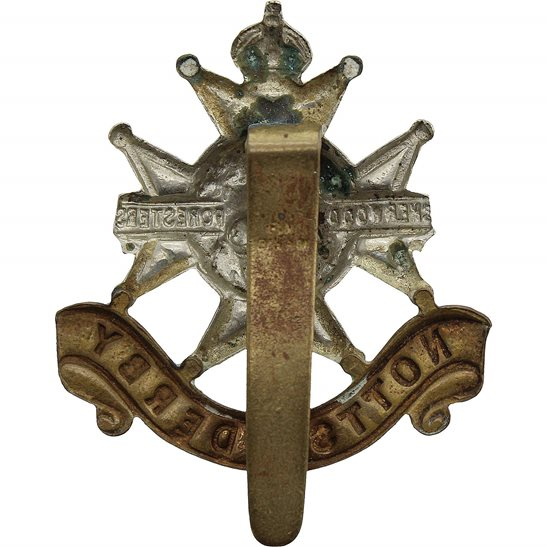 additional image for Sherwood Foresters (Notts and Derby) Regiment Cap Badge - F.N. B'HAM Makers Mark