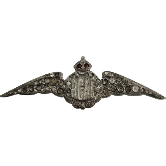 WW2 Canadian Army WW2 Royal Canadian Air Force RCAF Wings Sweetheart Brooch - 56mm