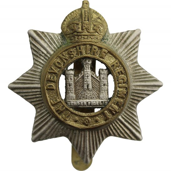 Devonshire Regiment WW2 Devonshire Regiment Cap Badge