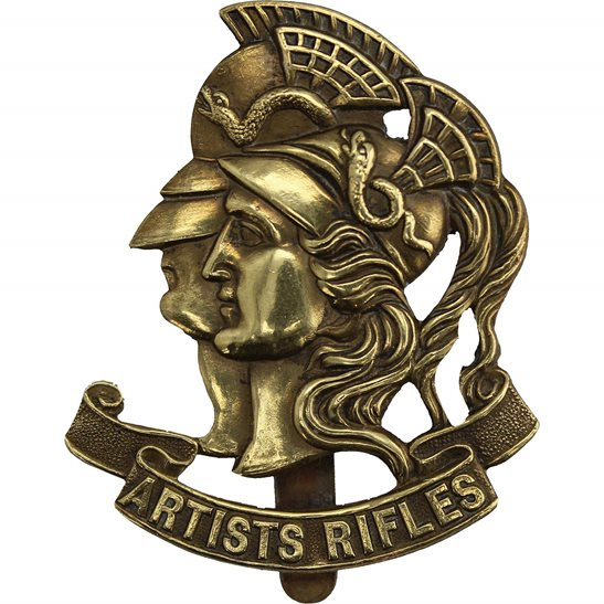 Artists Rifles WW1 Artists Rifles, 28th Battalion London Regiment Artist's Cap Badge