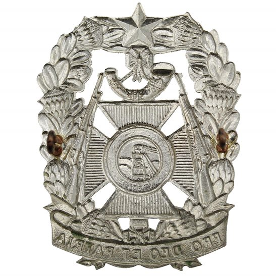 additional image for South African Witwatersrand Rifles Regiment Africa Cap Badge