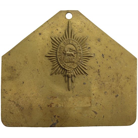 Worcestershire Regiment Worcestershire Regiment Brass Bed / Duty Foot Plate