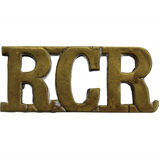 WW2 Canadian Army WW2 Royal Canadian Regiment RCR of Canada Shoulder Title