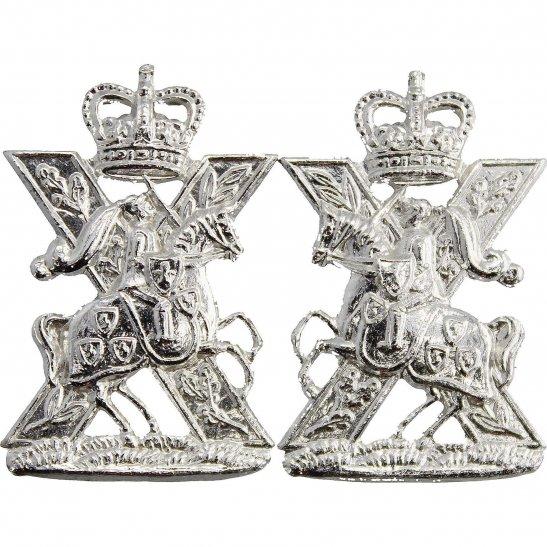 Fife and Forfar Yeomanry Fife and Forfar Yeomanry / Scottish Horse Staybrite Anodised Collar Badge PAIR - Staybright