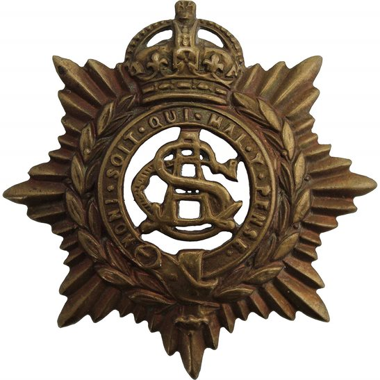 Army Service Corps ASC WW1 Army Service Corps ASC Cap Badge - EARLY LUGS VERSION