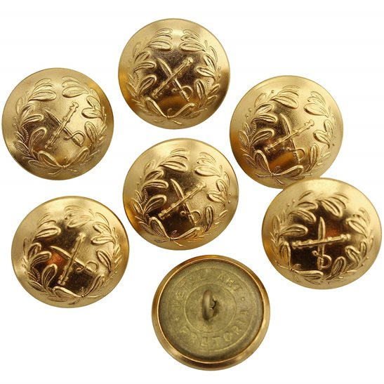 7x British / South African Generals Rank Officers Tunic Buttons Group - 26mm