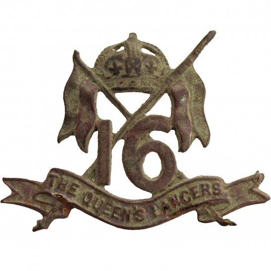 16th Lancers UK Dug Detecting Find - 16th Queens Lancers Regiment Relic Collar Badge