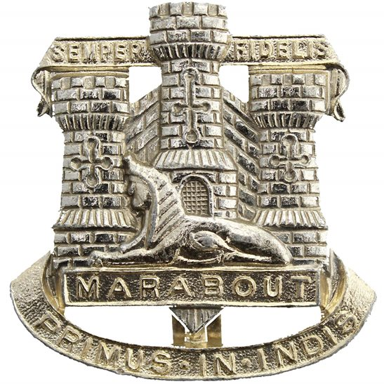 Dorset Regiment Devonshire and Dorset Staybrite Anodised Cap Badge - Staybright