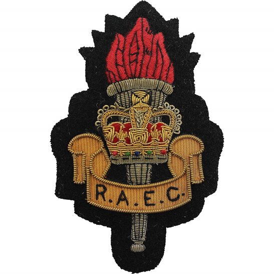 Royal Army Educational Corps RAEC Royal Army Educational Corps RAEC Cloth Wire BULLION Veterans Blazer Badge