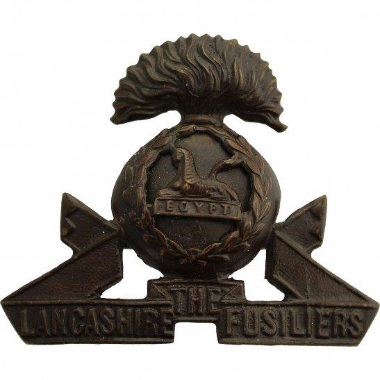 Lancashire Fusiliers Lancashire Fusiliers Regiment BRONZE Officers Cap Badge