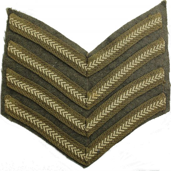 British Army Sergeant Majors Cloth Chevron Insignia Rank Stripes