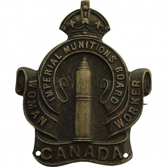 Canadian Women War Worker Imperial Munitions Board Volunteer Canada Lapel Badge