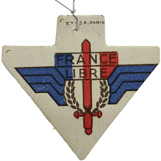 WW2 French Army WW2 Free French Libre War Effort Help France Flag Day Fundraising Pin Badge