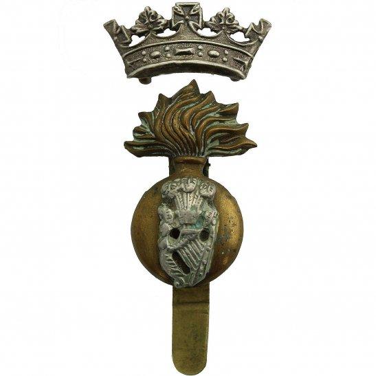 Royal Irish Fusiliers WW1 Royal Irish Fusiliers RIF Regiment Cap Badge - DUAL CONSTRUCTION