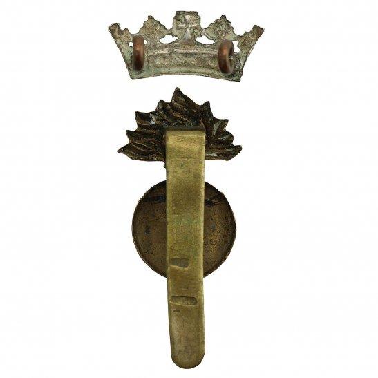 additional image for WW1 Royal Irish Fusiliers RIF Regiment Cap Badge - DUAL CONSTRUCTION