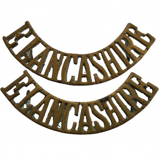 East Lancashire East Lancashire Regiment Shoulder Title PAIR