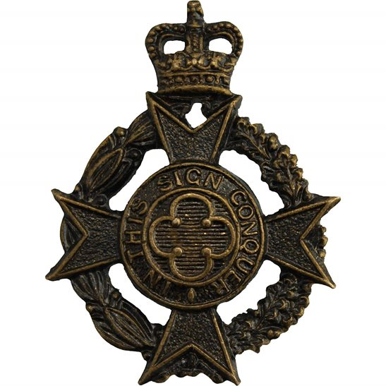 Royal Army Chaplains Department Royal Army Chaplains Department (RAChD) Collar Badge - QUEENS CROWN