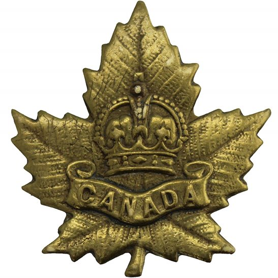 WW2 Canadian Army WW2 Canadian Army Division / Canada Corps CEF Collar Badge