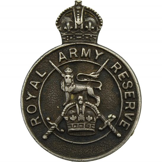 Territorial Battalions WW2 Regular Royal Army Reserve of Officers HALLMARKED Silver Lapel Badge