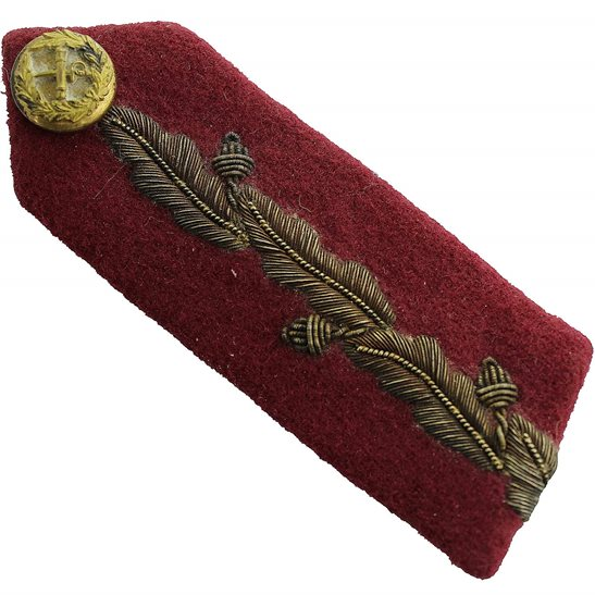 British Generals Rank Insignia Red Tab Collar Gorget