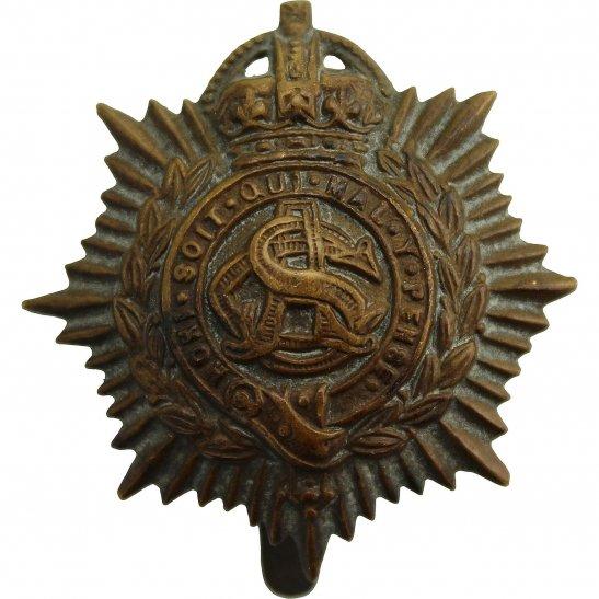Army Service Corps ASC WW1 Army Service Corps ASC Non Voided ECONOMY ISSUE Cap Badge