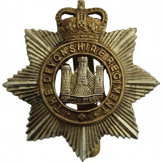 Devonshire Regiment Devonshire Regiment Cap Badge - Queens Crown