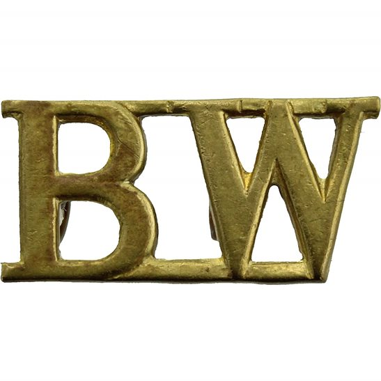 Black Watch WW2 Black Watch (Royal Highland) Regiment BW Shoulder Title - 2ND PATTERN