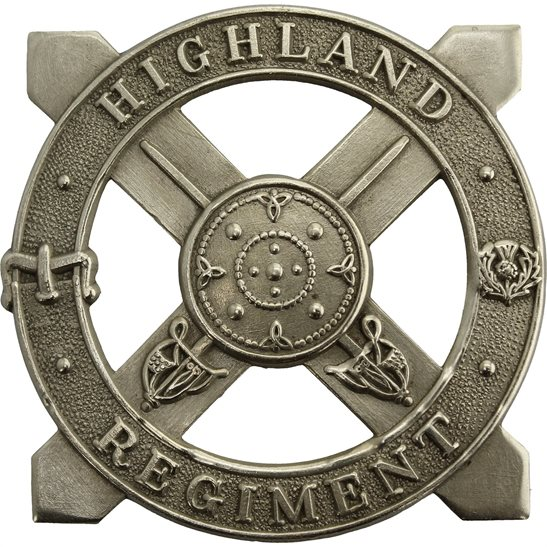 WW2 The Highland Regiment Scottish Cap Badge