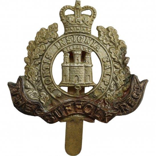 Suffolk Regiment Suffolk Regiment Cap Badge - Queens Crown