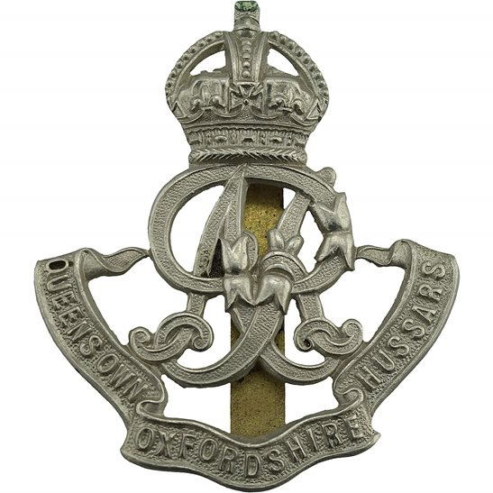 Queens Own Oxfordshire Hussars Queens Own Oxfordshire Hussars Regiment Cap Badge
