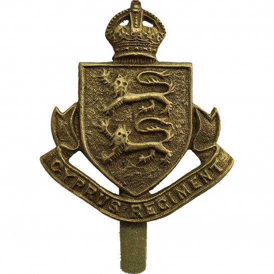 Cyprus Regiment WW2 RAISED The Cyprus Regiment Cap Badge CHATUR BIHARI & BROS ALIGARH. Makers Mark