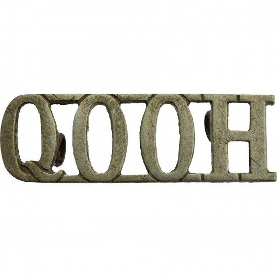 Queens Own Oxfordshire Hussars Queens Own Oxfordshire Hussars Regiment Shoulder Title