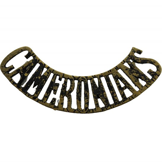 Scottish Rifles The Cameronians (Scottish Rifles) Regiment Shoulder Title