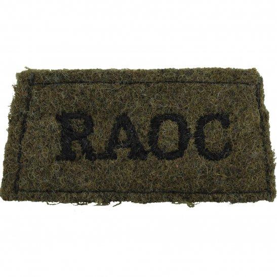 Royal Army Ordnance Corps RAOC WW2 Royal Army Ordnance Corps RAOC Cloth SLIP ON Shoulder Title Badge Flash