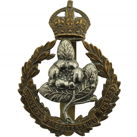 Worcestershire Hussars Queens Own Worcestershire Hussars Regiment Cap Badge - J.R.GAUNT LONDON