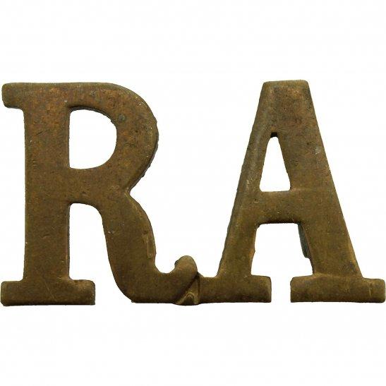 Royal Artillery WW1 Royal Artillery Regiment RA Shoulder Title