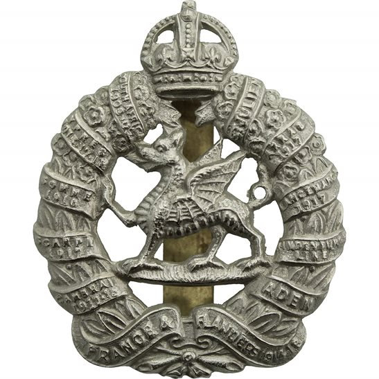 Monmouthshire Regiment WW2 1st Monmouthshire Regiment Cap Badge