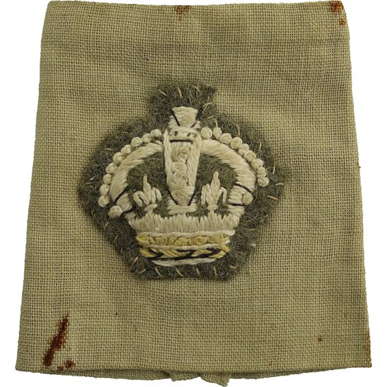WW2 British Army Officers CLOTH Epaulette Insignia Crown Pips - Rank of Major