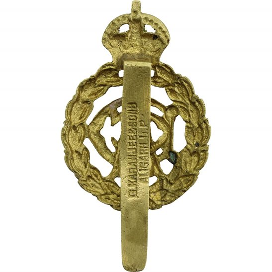 additional image for WW1 Army Dental Corps ADC Dentist Cap Badge - G.KARANJEE & SONS ALIGARH. U.P