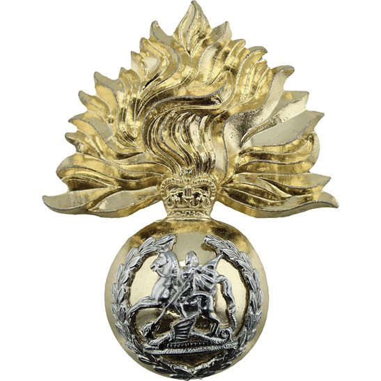 Northumberland Fusiliers Northumberland Fusiliers Regiment Staybrite Anodised Cap Badge - Staybright